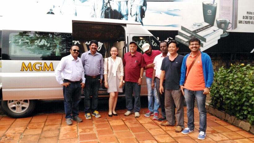 Xe MGM phục vụ Đoàn chuyên gia cao cấp các nước Mỹ, Brazil, Mexico, Singaore đến thăm Việt Nam và nghiên cứu đầu tư xúc tiến phát triển Cafe Việt Nam vào 20/09/2016