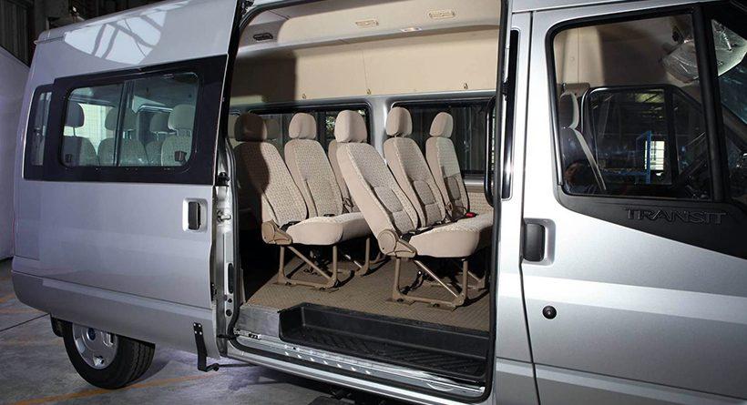 Nội thất xe Ford Transit 16 chỗ